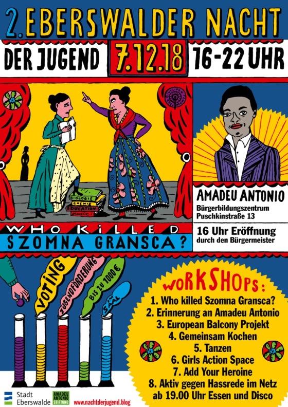 Flyer Nacht der Jugend Eberswalde 2018